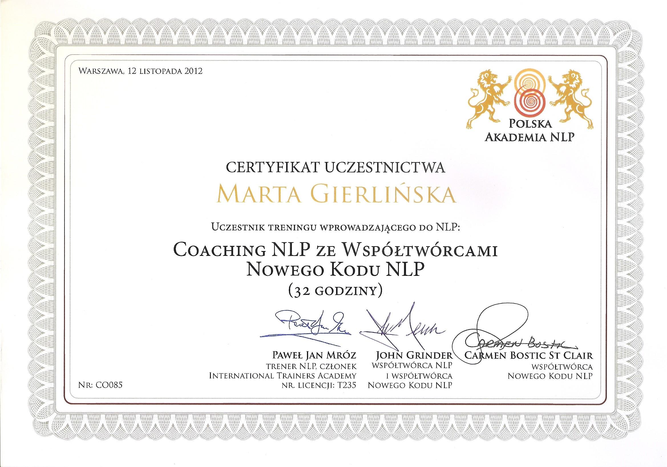 Coaching NLP