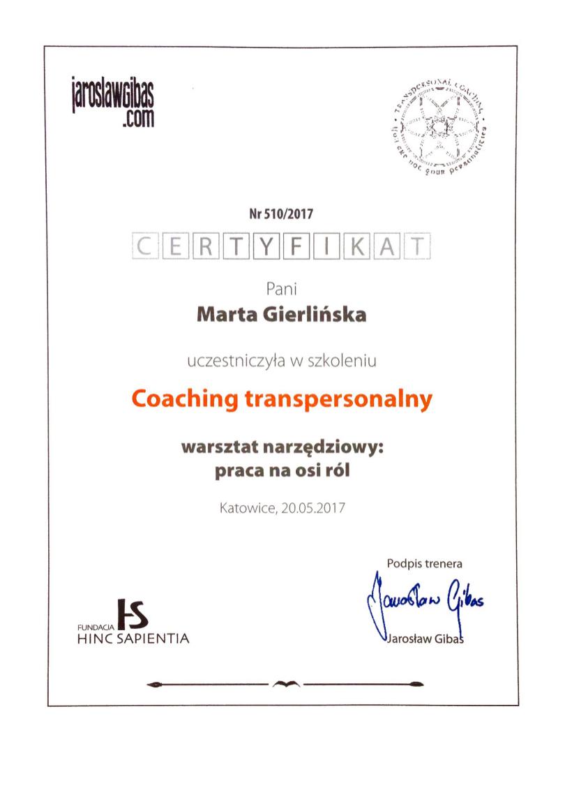 Coaching Transpersonalny Oś Ról społecznych