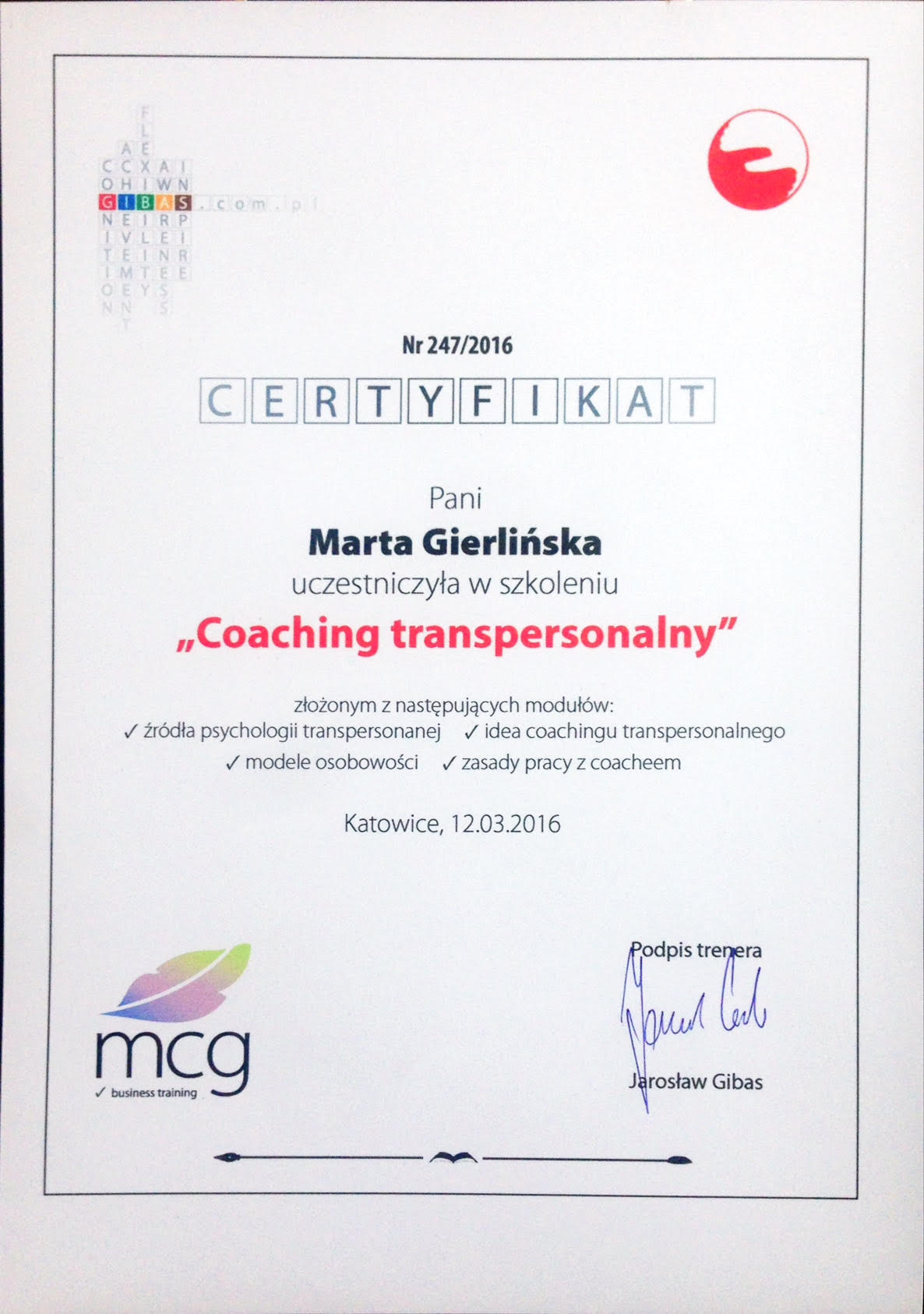 Coaching Transpersonalny